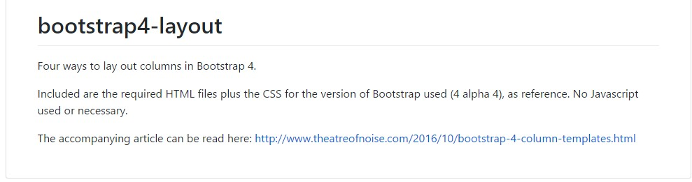 Design examples  located in Bootstrap 4