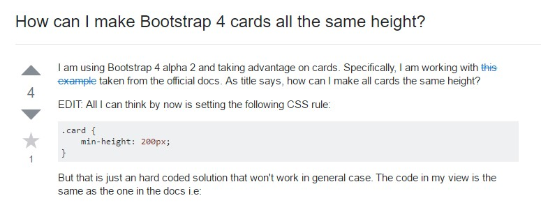 Insights on how can we  establish Bootstrap 4 cards just the same tallness?