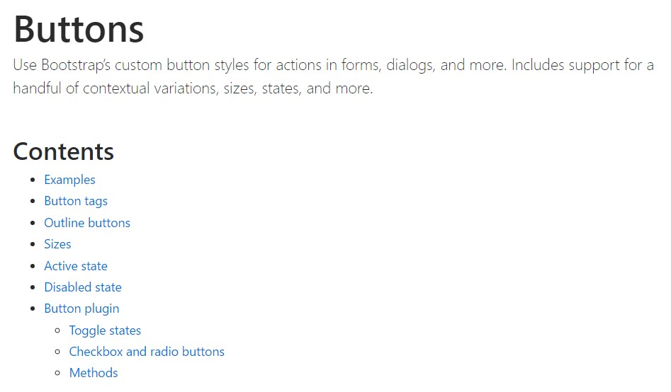Bootstrap toggle  formal documentation