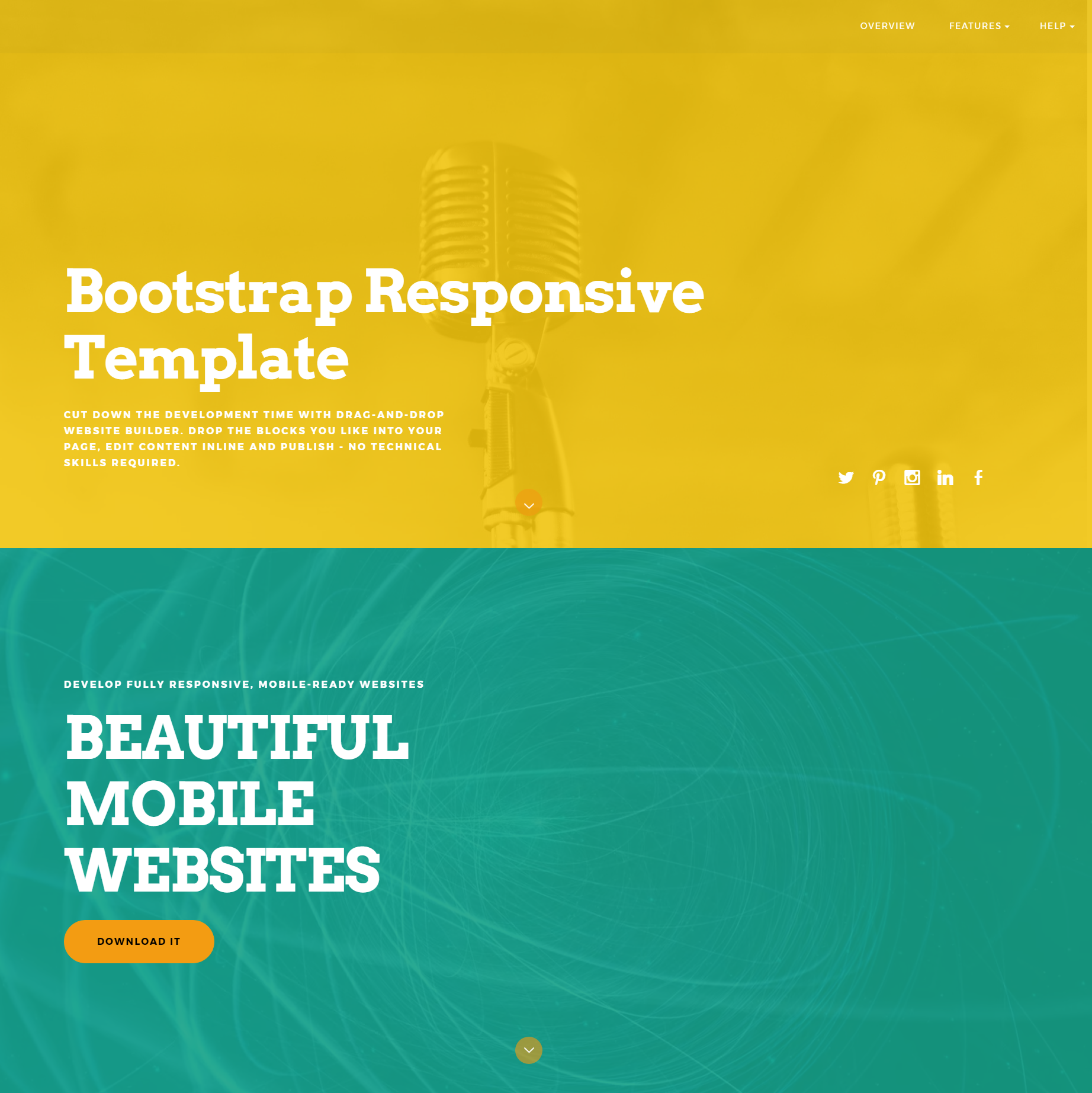 HTML Bootstrap ColorM Themes