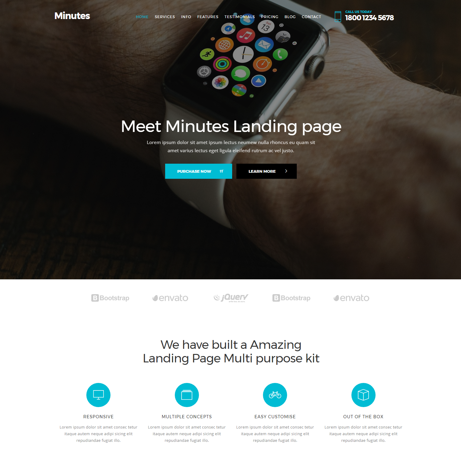 CSS3 Bootstrap Minutes Templates
