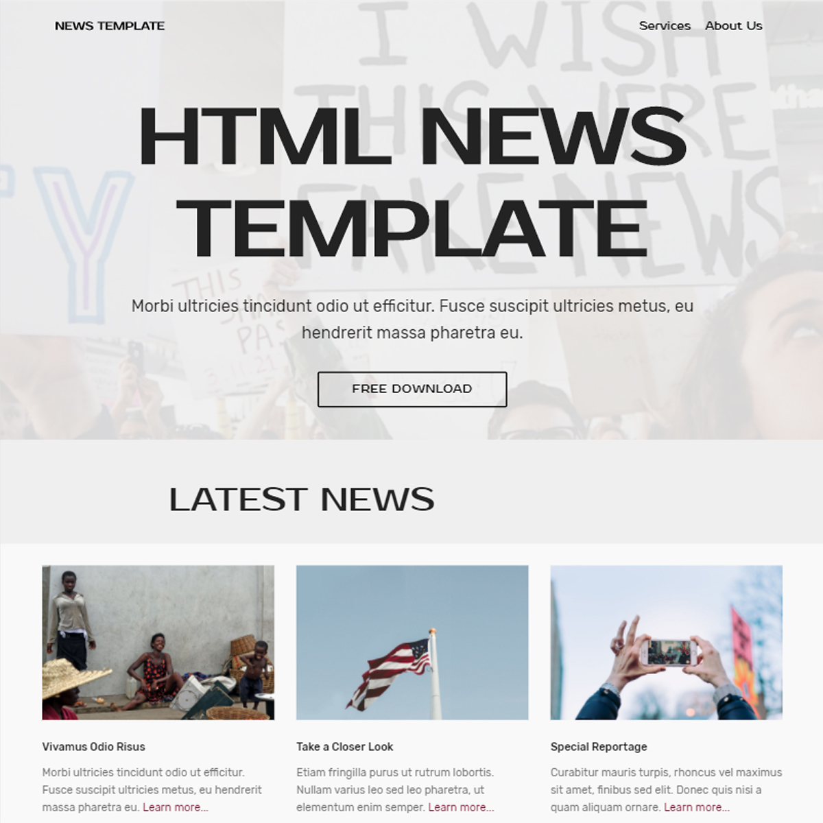 Free Download Bootstrap News Themes
