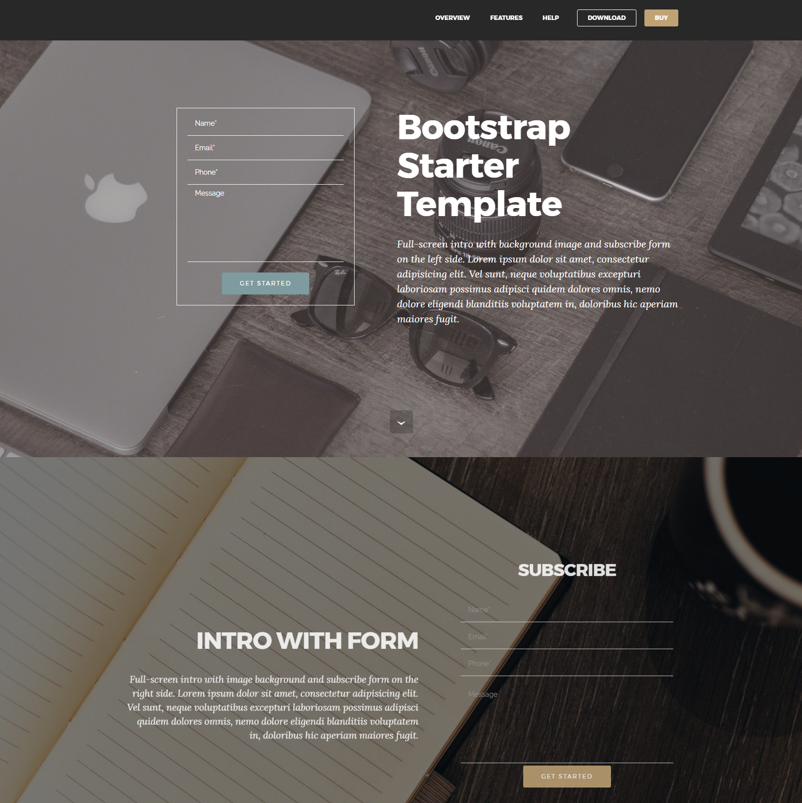 Free Bootstrap Starter Themes