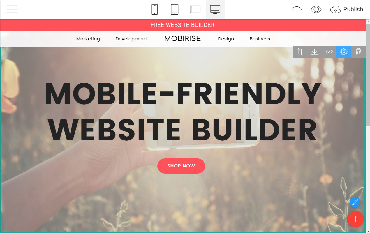 Mobile-friendly Webpage Builder